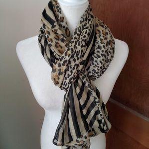 LANE BRYANT multi animal print long scarf